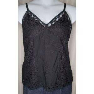 Seven7 Lace Emb Black Camisole 18/20